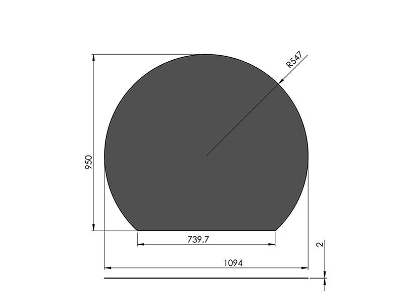 スチールフロアプレート 円形