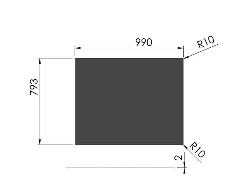 スチールフロアプレート 四角形